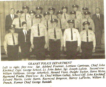 Granby Police Department Blog » History of the Granby Police